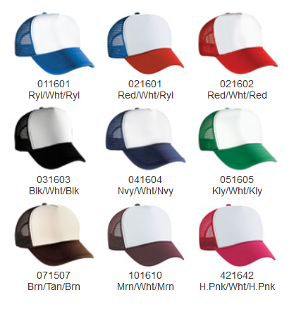 Trucker Hat Color Options