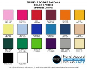 Doggie Bandana Color Options